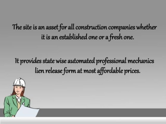 Get state wise automated professional mechanics lien release form fro    4