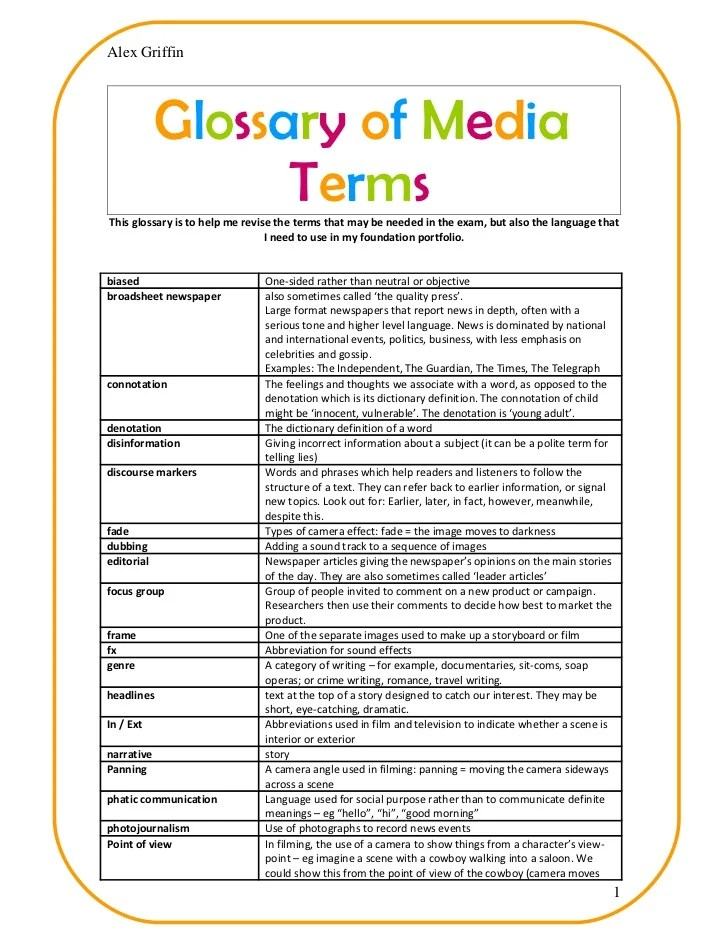 Glossary of media terms