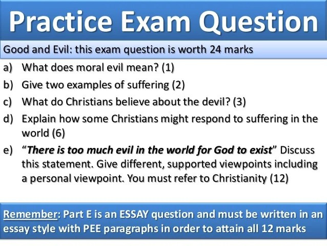 Good Examples Evil And