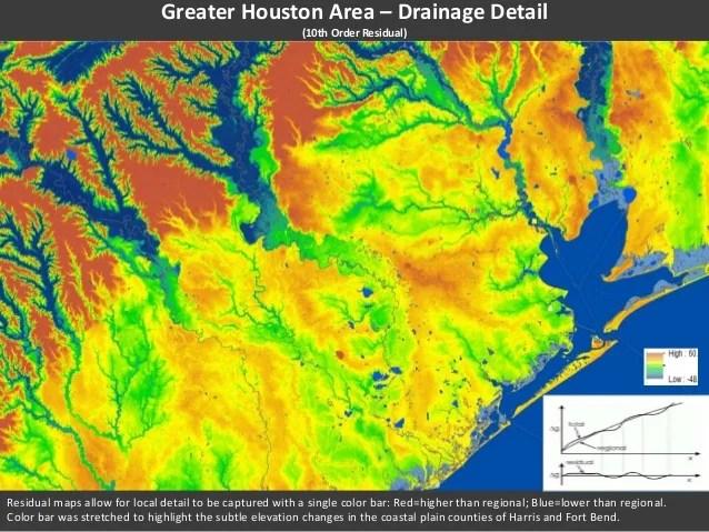 Houston Texas Altitude Map