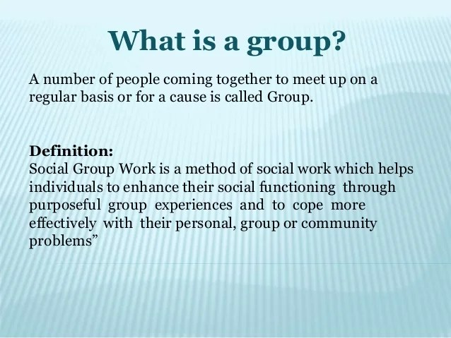 Group work in Correctional & Industrial settings