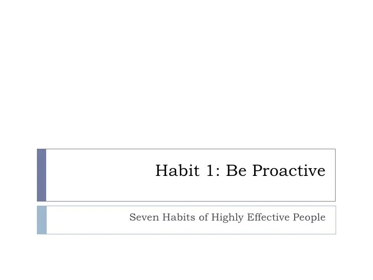 Personal Bank Account 7 Habits Activity