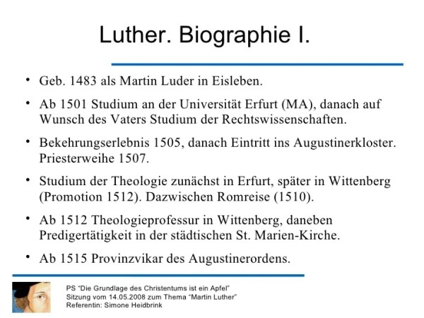 martin luther steckbrief # 6