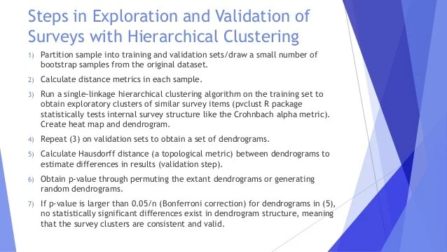 Hierarchical Clustering And Topology For Psychometric