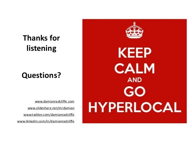 How can hyperlocal media create active and digitally ...