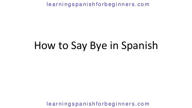 How Do You Say No Spanish
