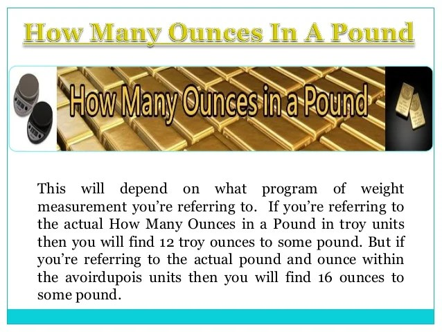 How many ounces in a pound