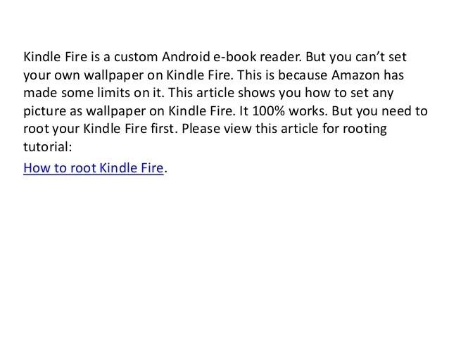 Own Fire App Pics Kindle Wallpaper