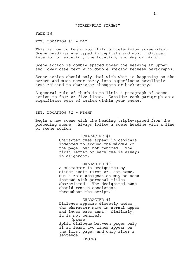 Television Script Format