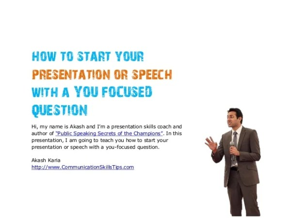 how to start a presentation # 4