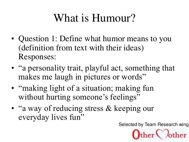What Does Word Humour Mean