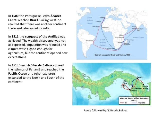 Nunez Balboa De And Sailed Where Map He Vasco