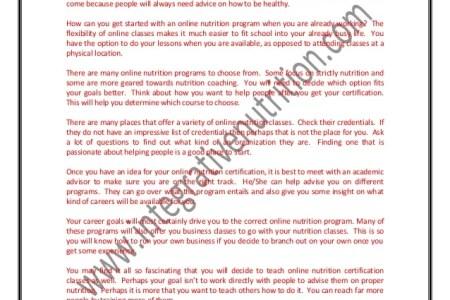 nutrition certification programs » Free Resume Format | Resume Format