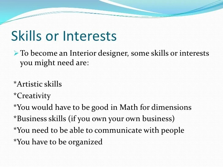 Qualifications Needed Interior Design Course