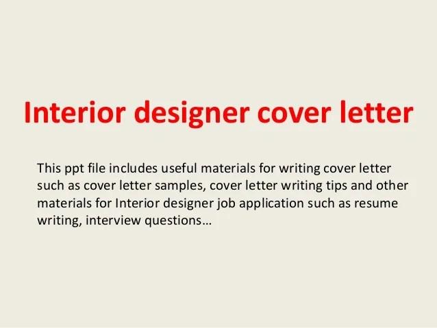 Interior Designer Job Description