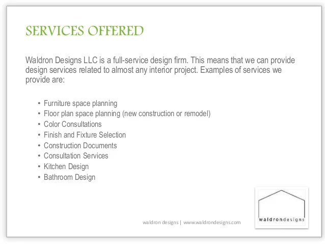 Services Provided Interior Designers