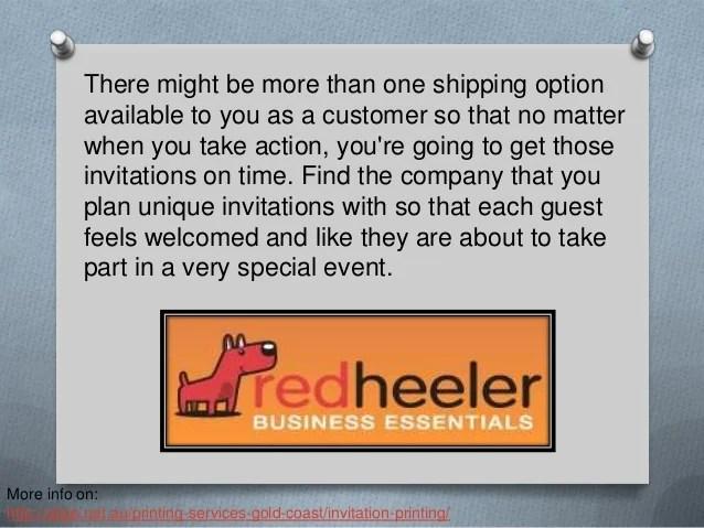 Online Invitation Printing Services