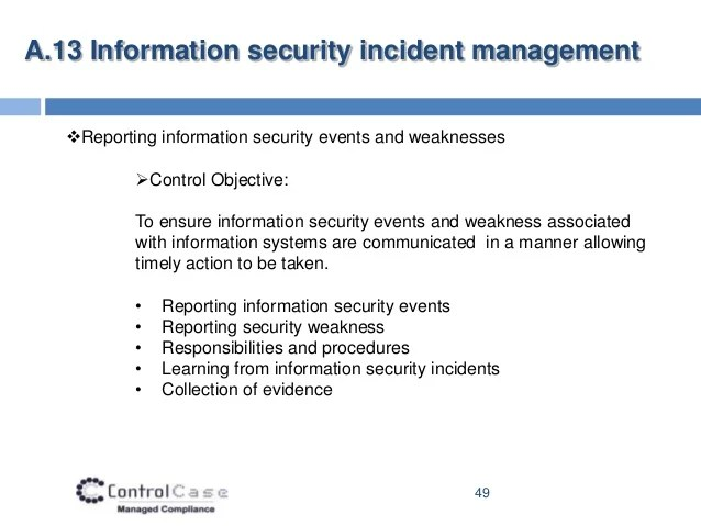 Information Security Policy Management Incident