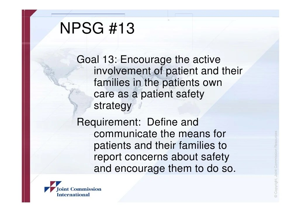 National 2019 Patient Safety Goals