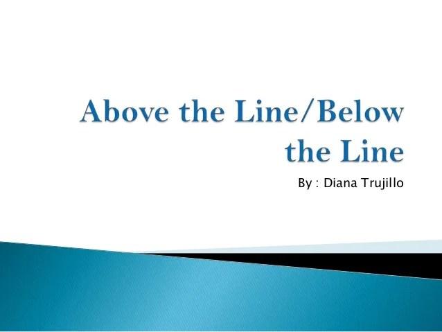 Line Above Below Vs Line