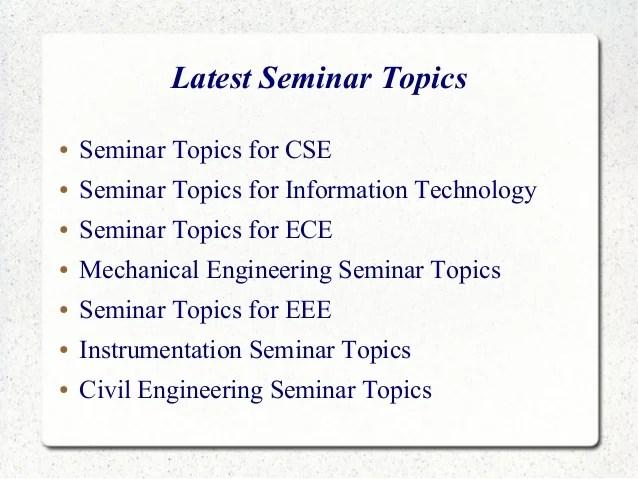 seminar topics for ece latest seminar topics for ...