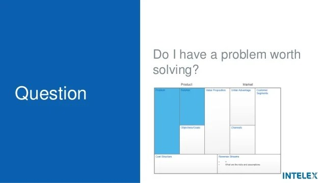 Lean Canvas Basics Question Do I have a problem worth solving