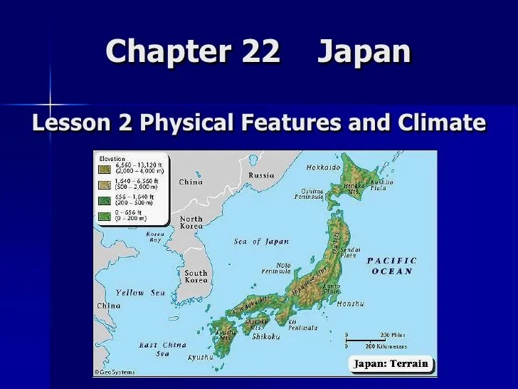 Lesson 2 Japan Physical Features And Climate