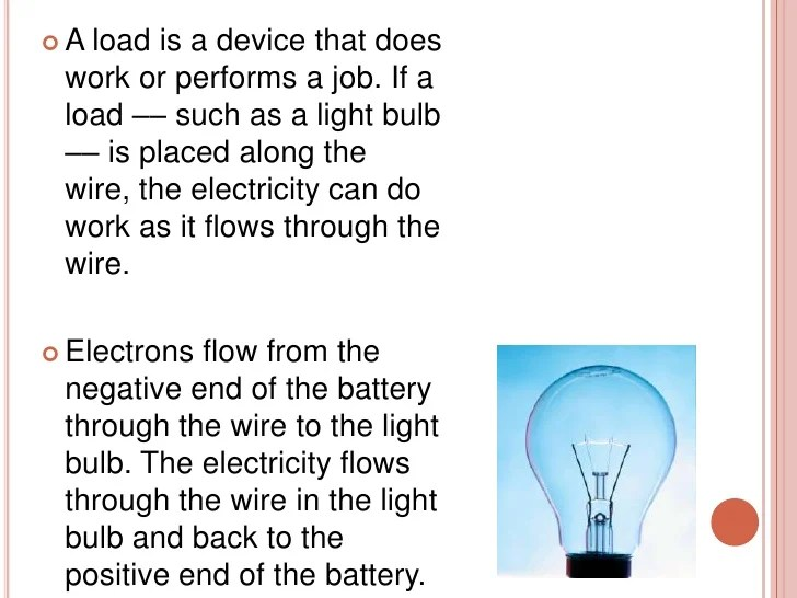 Battery Bulb Electricity Flows How Light