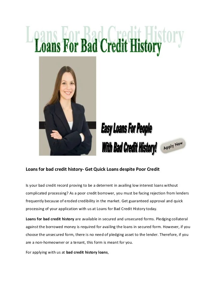 Banks Give Personal Loans People Bad Credit