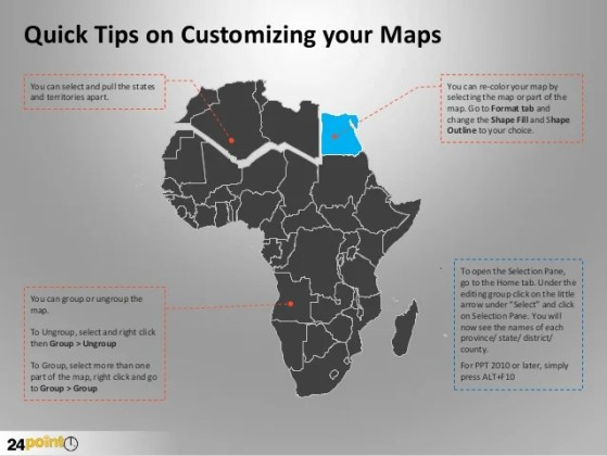Customizable Africa PowerPoint Map
