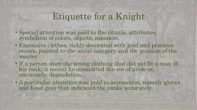 Becoming Knight Middle Ages