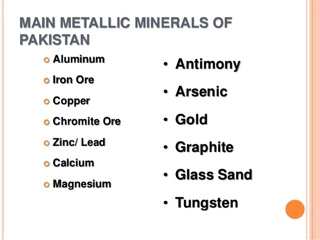 Metallic Vs Minerals Non Metallic