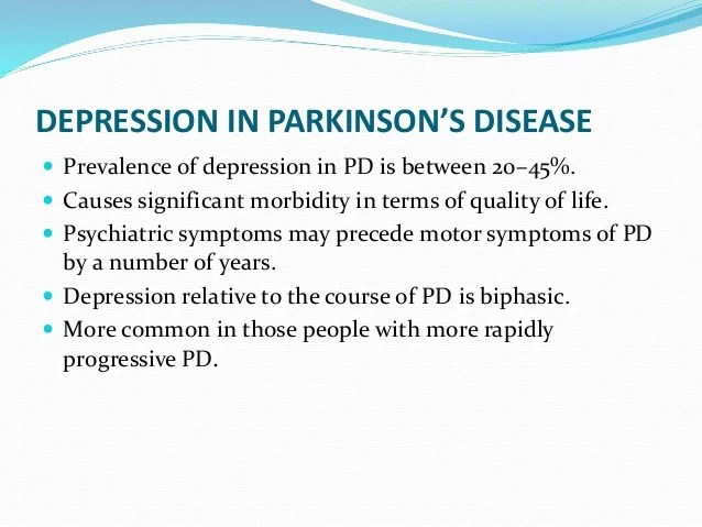Parkinsons And Depression