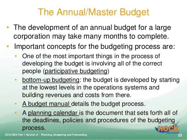 Cma Part 1 Planning Budgeting And Forecasting