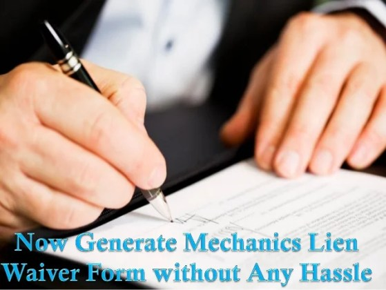 Now generate mechanics lien waiver form without any hassle There are many parties who furnish materials  labor or professionals  services for the improvement of