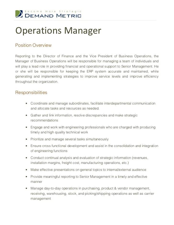 Job Description Security Manager Data