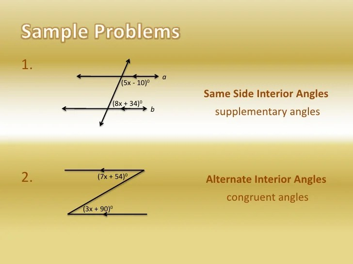 Are Same Side Interior Angles Congruent