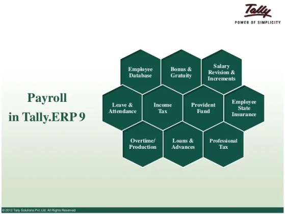 What is Payroll   Understanding payroll management      Rights Reserved  10  Employee Database Payroll in Tally