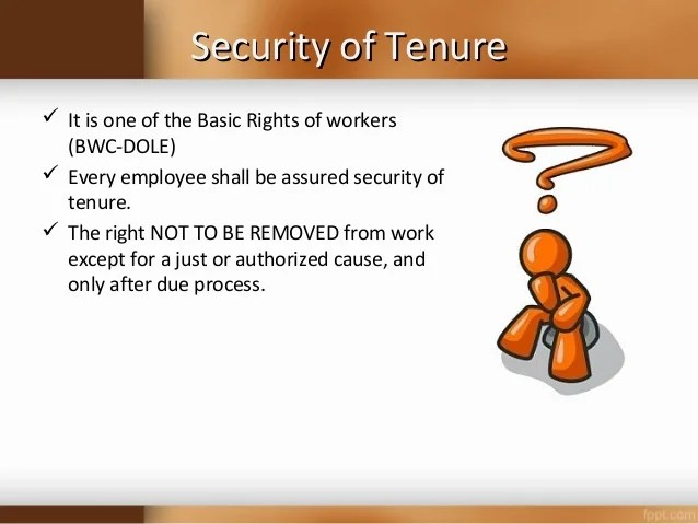 What Security Tenure Law