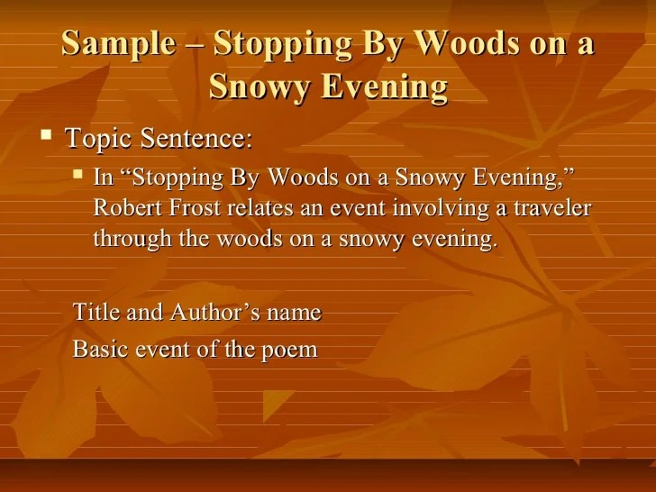 Woods Snowy Author Evening Stopping