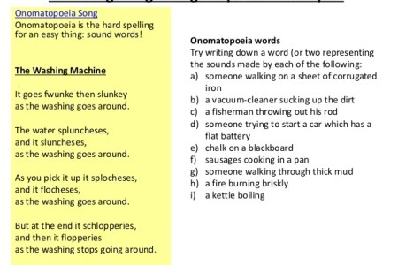 Onomatopoeia Examples Sentence Gallery - example of resume