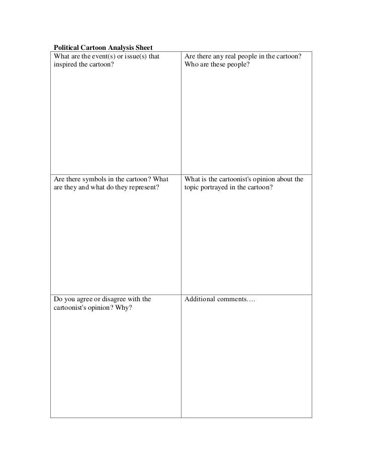 Political High Cartoons Worksheet School