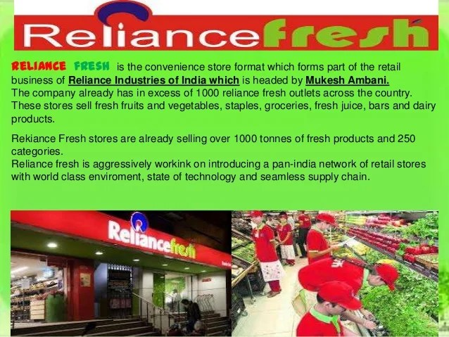 Reliance Fresh Outlets Coimbatore