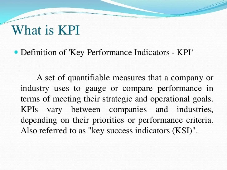 Security Monitoring Kpi