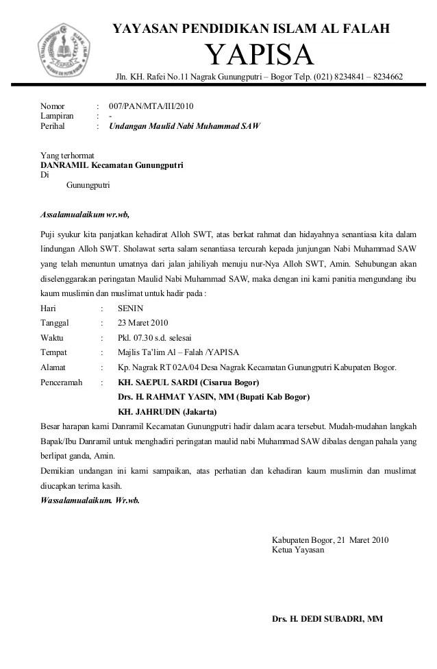 Contoh Cover Proposal Maulid Nabi Muhammad Toast Nuances Download
