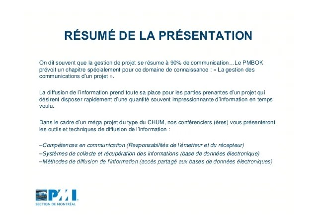 Resume Executif Exemple