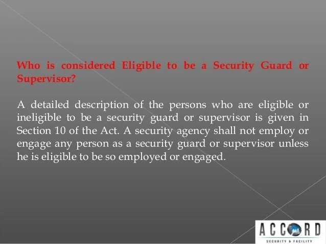 Obtaining Security Guard License
