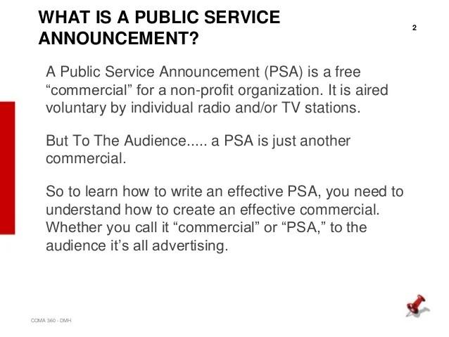 Public Service Announcement Template