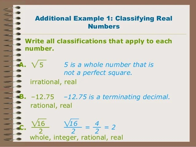 Irrational Numbers Life Real Examples