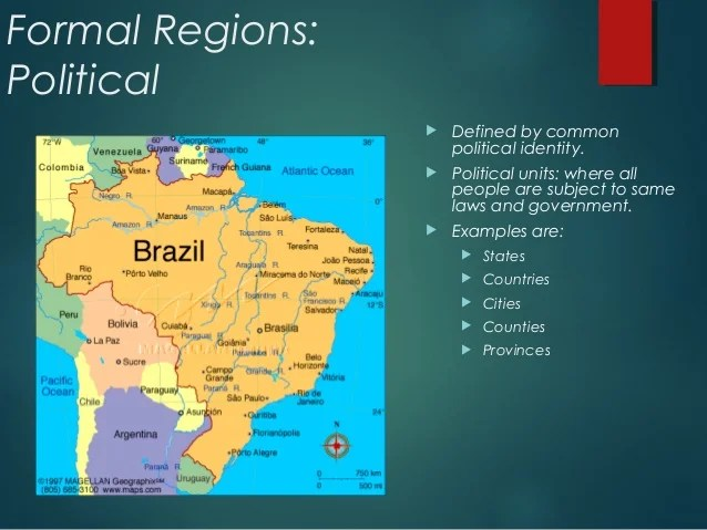 Formal Regions Geography Examples